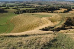 Dragon Hill and the Manger, from White Horse Hill