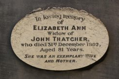 Memorial to Elizabeth Ann Thatcher, Thatcher Family Memorials, St. Mary's Church, Uffington