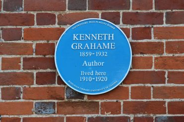 Plaque on Bohams House, home of Kenneth Grahame, author of 'The Wind in the Willows', Blewbury