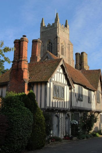 The Maltings and St. Mary's Church Tower, Stoke-by-Nayland
