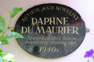Daphne Du Maurier plaque, Cornerways Guest House, St. Ives