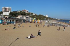 East Cliff Beach, from pier, Bournemouth