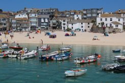 Fishing boats and Harbour Beach, St. Ives