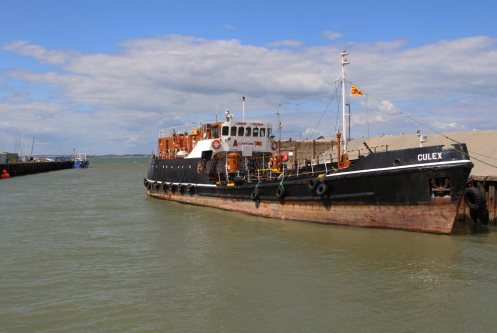 Oil products tanker, Culex, Whitstable Harbour, Whitstable