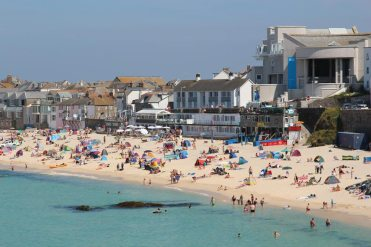 Porthmeor Beach and Tate St. Ives, St. Ives