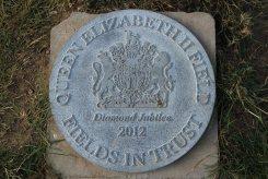 Queen Elizabeth II Field, Diamond Jubilee 2012 plaque, Tankerton Slopes, Whitstable