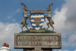 Best Kept Village sign, Much Hadham