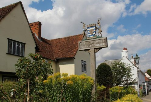 Best Kept Village sign, Much Hadham