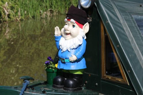 Figurehead on narrowboat, Kennet and Avon Canal, near Pewsey Wharf