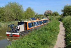 Narrowboat, Kennet and Avon Canal, near Pewsey Wharf