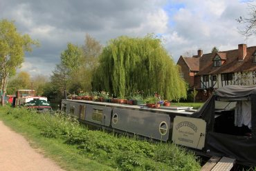 """Greyfisher"" narrowboat, Kennet and Avon Canal, Aldermaston Wharf"