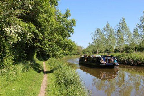 Isabella Hotel Boat, between Wire Lock and Brunsden Railway Bridge, Kennet and Avon Canal