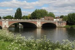 Hampton Court Bridge, from Cigarette Island
