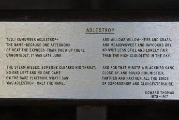 Poem, Adlestrop, by Edward Thomas, Bus shelter, Adlestrop