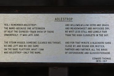 Poem, Adlestrop, by Edward Thomas, Bus shelter, Adlestrop
