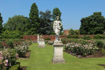 Statues, Rose Garden, Tiltyard, Hampton Court Palace
