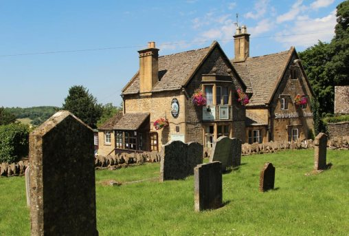 The Snowshill Arms, from St. Barnabas Churchyard, Snowshill