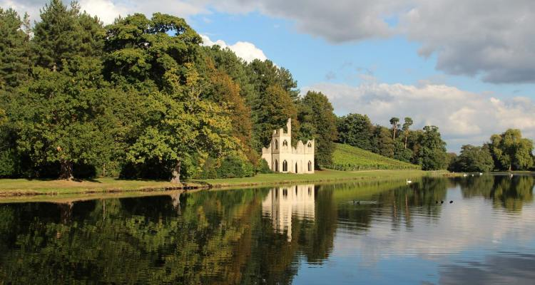 The Lake and Ruined Abbey, Painshill Park, Cobham