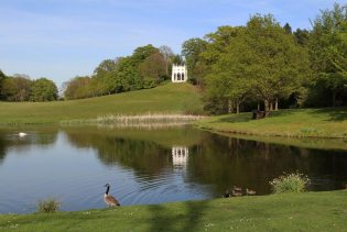 The Lake and Gothic Temple, Painshill Park, Cobham