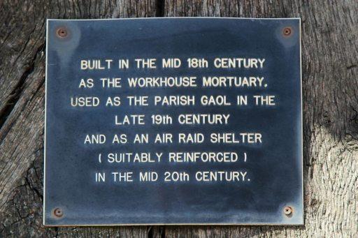 Information board on Workhouse mortuary, Lenham