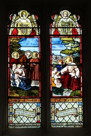 Stained glass window, memorial to H.C.D. Chandler, St. Nicholas Church, Steventon