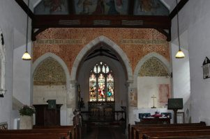 Victorian wall decorations, St. Nicholas Church, Steventon