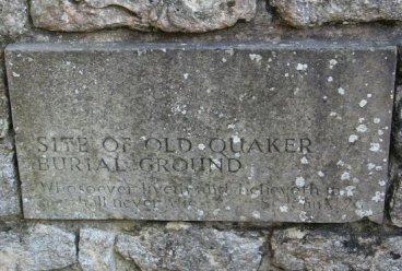 Plaque, site of Old Quaker Burial Ground, Haddenham
