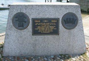 Memorial commemorating 50th Anniversary of D-Day Normandy Landings, Salcombe