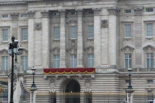 Balcony, Buckingham Palace. Royal Wedding, Prince William and Kate, 29th April 2011