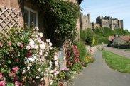 Bamburgh Castle, from Church Street, Bamburgh