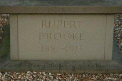 Base, Rupert Brooke statue, The Old Vicarage, Grantchester
