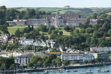 Britannia Royal Naval College, Dartmouth, from Kingswear