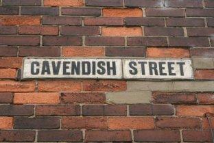 'Cavendish Street', street sign, Hanley, Stoke-on-Trent