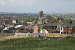 Christ Church, Cobridge, from Central Forest Park, Hanley, Stoke-on-Trent