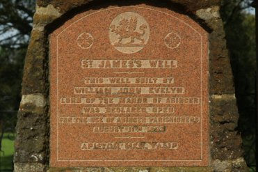Commemorative plaque, St. James's Well, Abinger Common