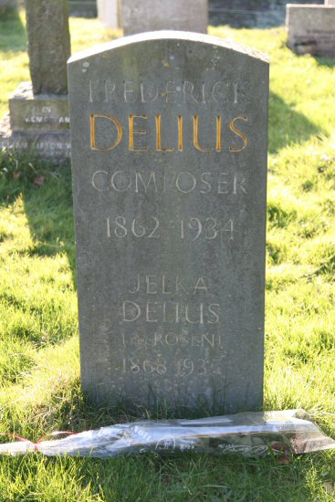 Composer, Frederick Delius's grave, St. Peter's Churchyard, Limpsfield