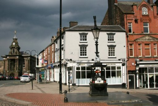 Corner of Fountain Place and St. John's Square, Burslem, Stoke-on-Trent