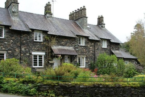 Cottages, Skelwith Bridge, Langdale Valley, near Elterwater