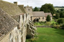 Courtyard and St. John the Baptist Church, from South Tower, Stokesay Castle