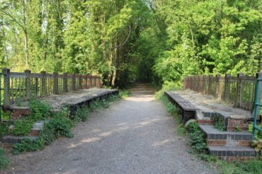 Disused railway bridge, Meon Valley Railway, Wickham