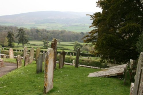 Dunkery Beacon, from All Saints Churchyard, Selworthy