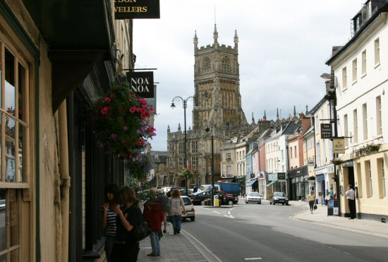 Dyer Street, looking to Market Place, Cirencester