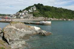 East Looe and Banjo Pier, from Hannafore Point, Looe