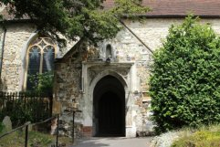 Entrance, St. Mary's Church, Oxted