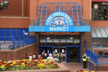 Entrance to The Potteries Market, Hanley, Stoke-on-Trent