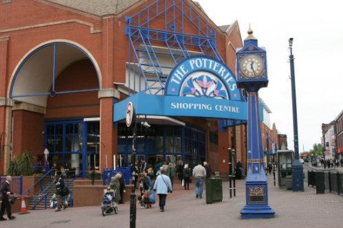 Entrance to The Potteries Shopping Centre, Hanley, Stoke-on-Trent
