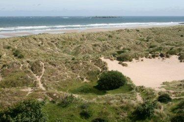 Bamburgh Dunes and Farne Islands, from Bamburgh Castle, Bamburgh