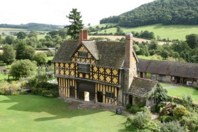 Gatehouse and Courtyard, from South Tower, Stokesay Castle