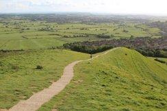 Glastonbury and the Somerset Levels, from Glastonbury Tor