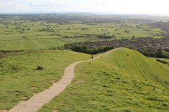 Glastonbury and the Somerset Levels, from Glastonbury Tor